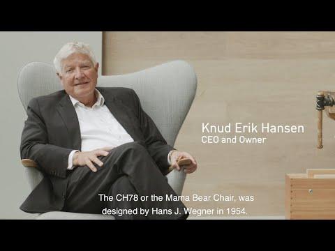 Discover the CH78 Mama Bear Chair by Hans J. Wegner with Carl Hansen CEO & Owner Knud Erik Hansen