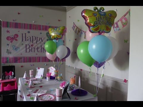 Diy Birthday Party Decor Ideas For Girls Youtube