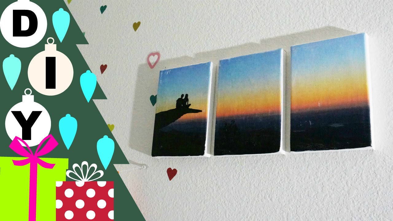 diy 3 panel canvas awesome stuff week unwrapped youtube