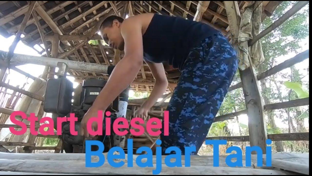 cara menyalakan diesel ratna di desa - YouTube