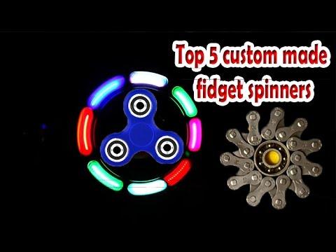 Top 5 crazy custom made diy fidget spinners (lego LED homemade easy fidget spinners)