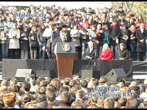 Vlad Filat, discurs alaturi de Joe Biden