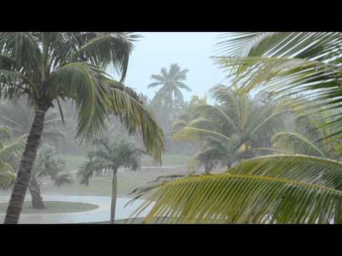 Tropical Rain Storm Iberostar Laguna Azul Varadero Beach Cuba
