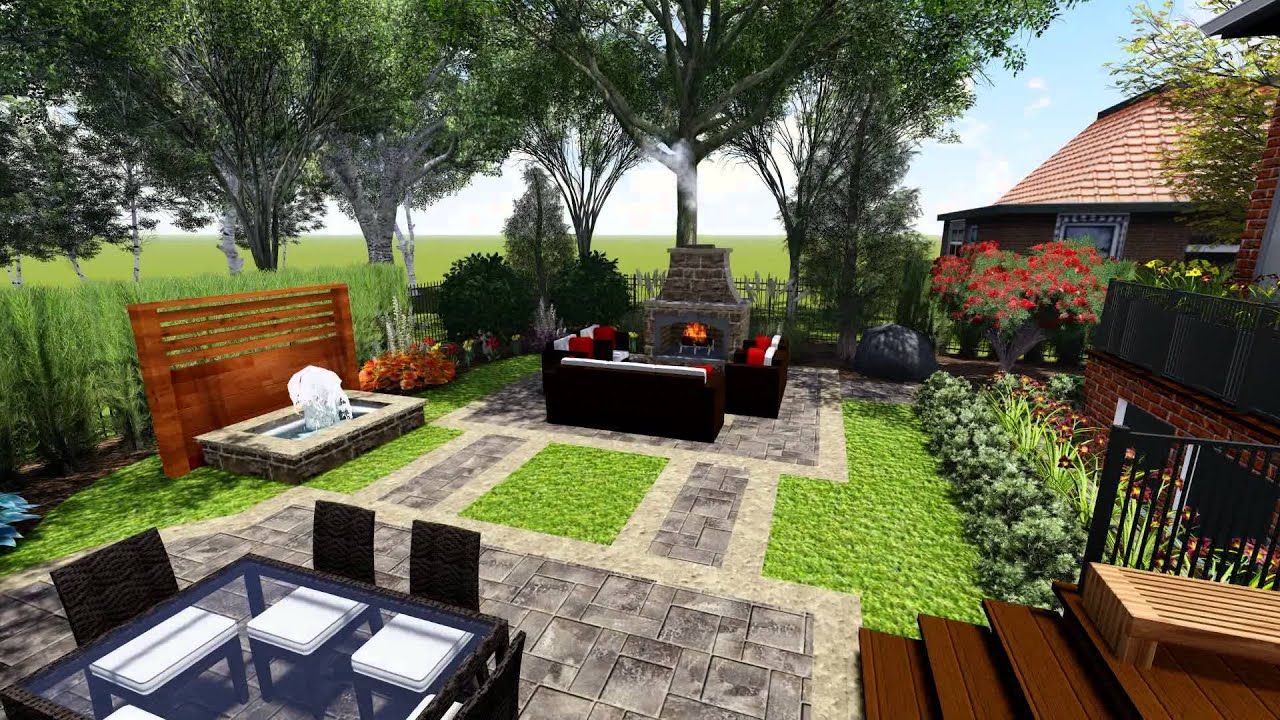 Proland Landscape Design Concept small backyard - YouTube on Small Backyard Layout id=21636