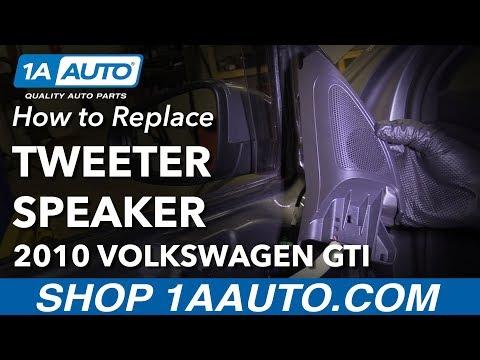 How to Replace Door Tweeter Speakers 10-14 Volkswagen GTI