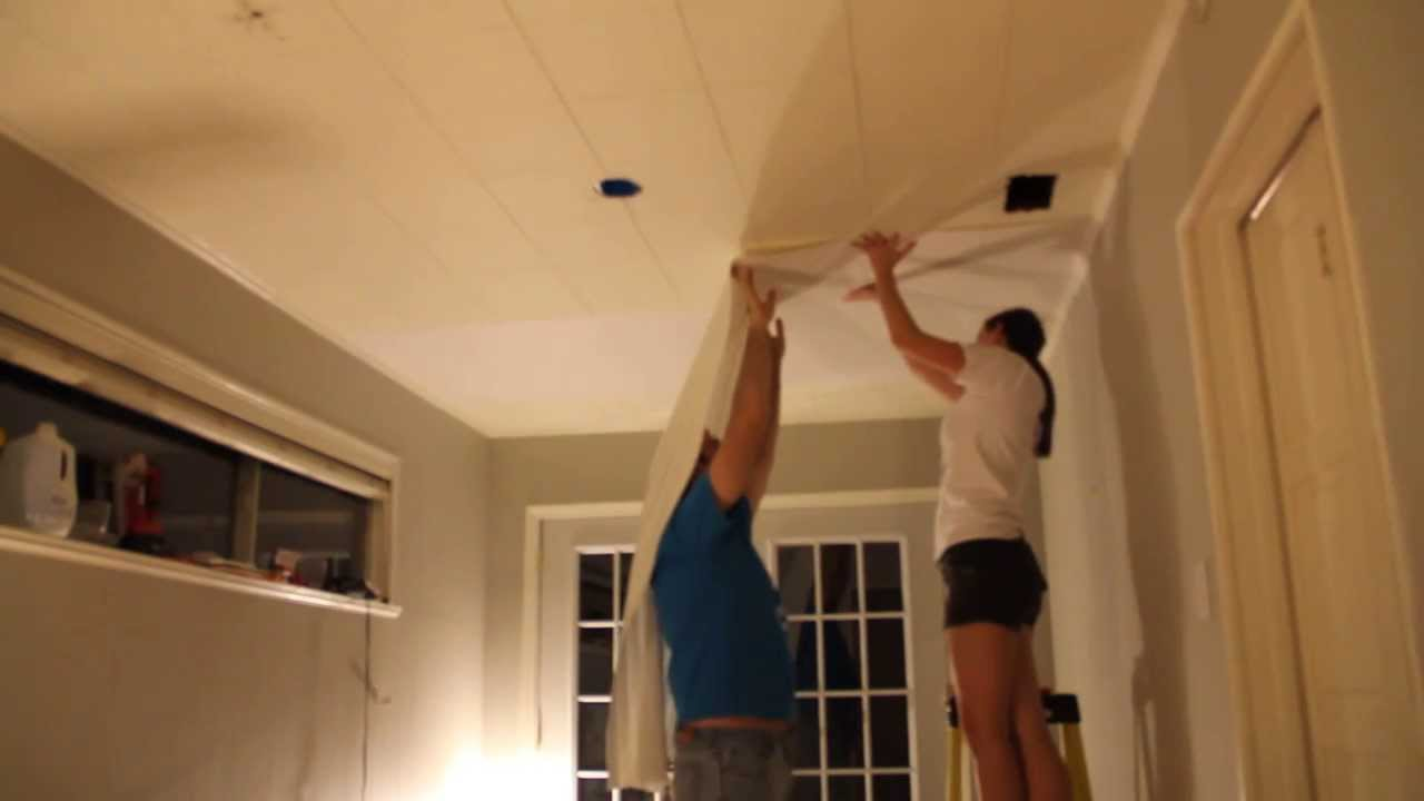 Hanging Wallpaper on the Ceiling - YouTube