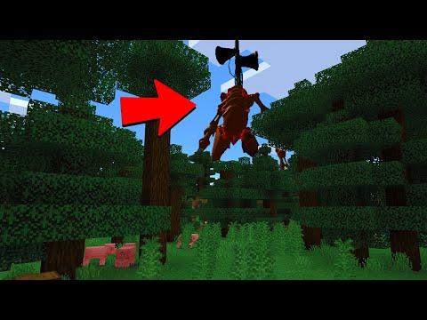 3AM Siren Head in Minecraft World..