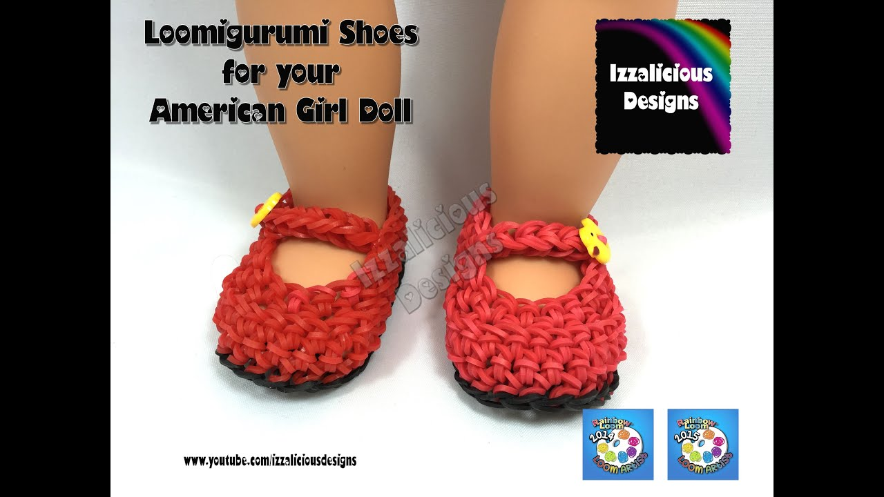 Amigurumi Loom Patterns : Loomigurumi maryjane shoes for american girl doll amigurumi