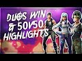 """Awesome Duos Win & 50v50 Highlights"" - Fortnite: BR"