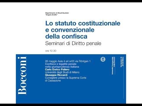 Lo Statuto Costituzionale E Convenzionale Della Confisca - 3°