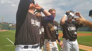 Columbia Fireflies players enjoy their Total Eclipse experience