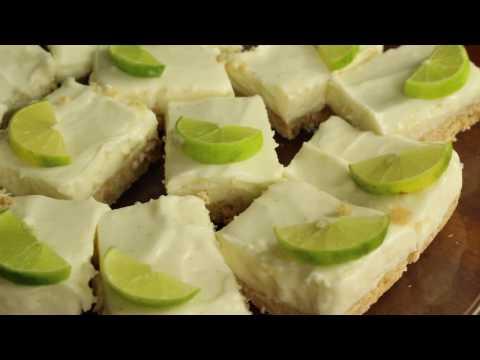 Key Lime Rum Cream Meltaway Bars