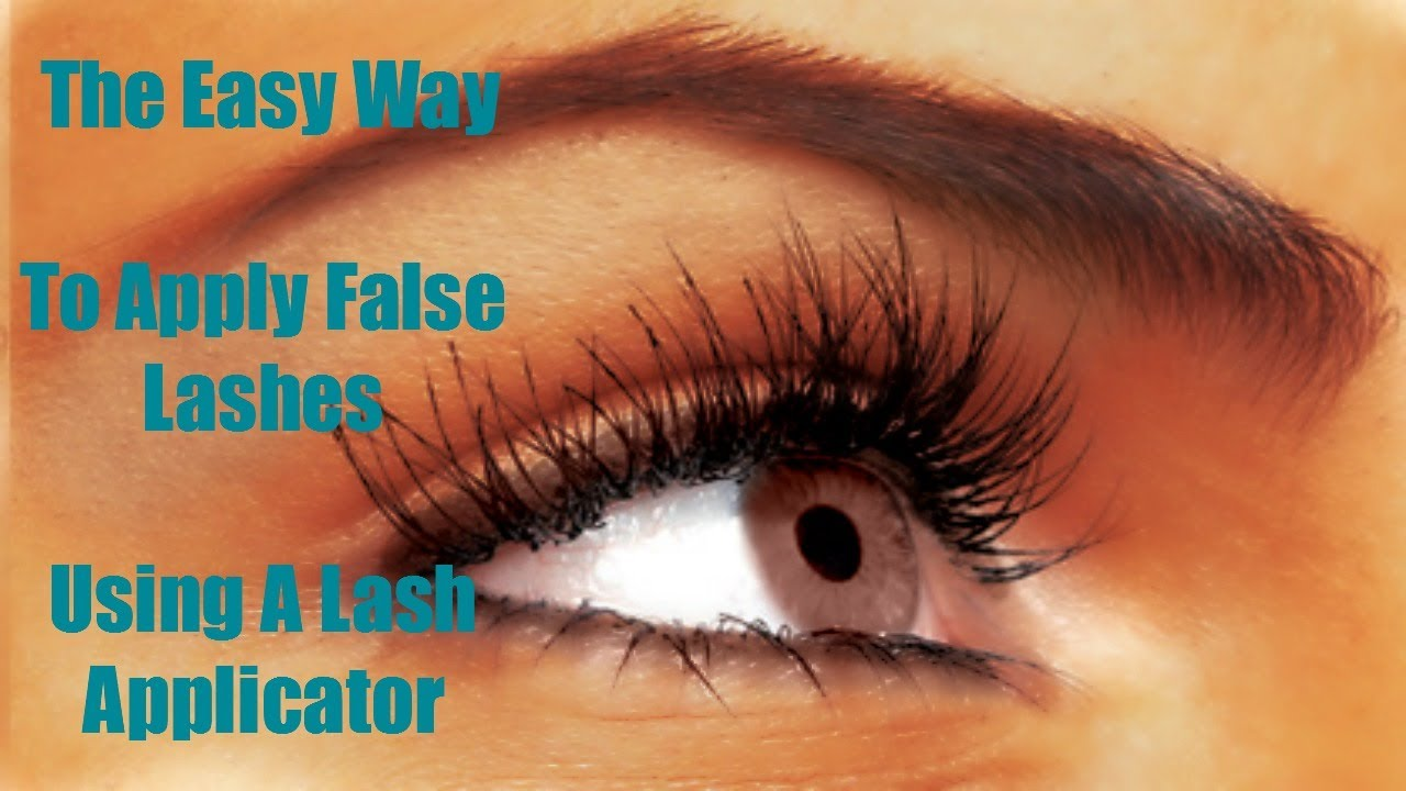 The Easy Way To Apply False Lashes Using Lash Applicator Filmed In