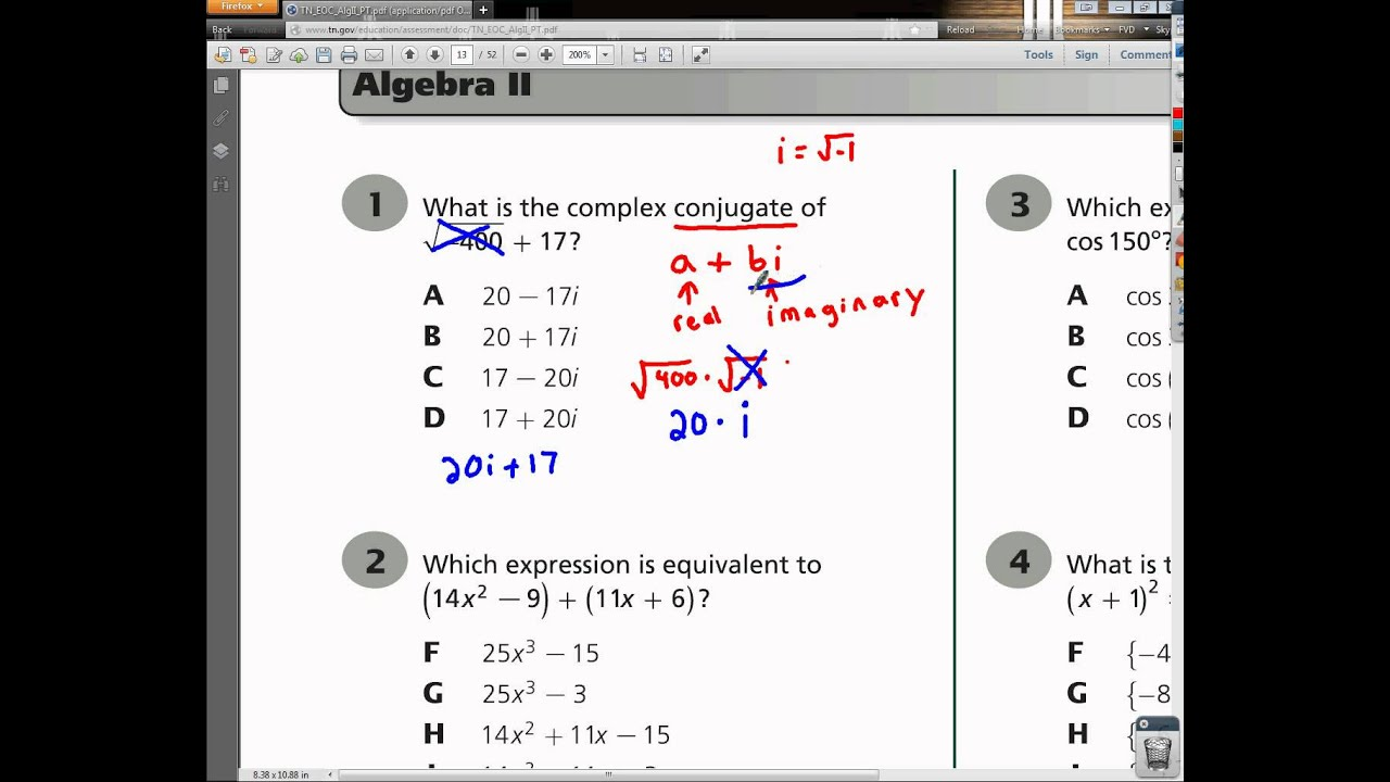 algebra eoc practice test 2 Algebra Eoc Study Guide - Browse Manual Guides •