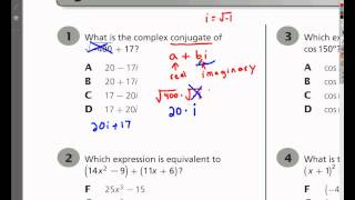 ***Question 1 - Tennessee Algebra 2 EOC Practice Test