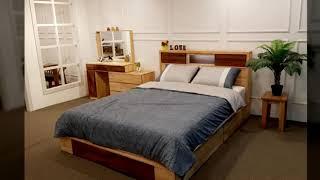 가온 멀바우 원목 침대