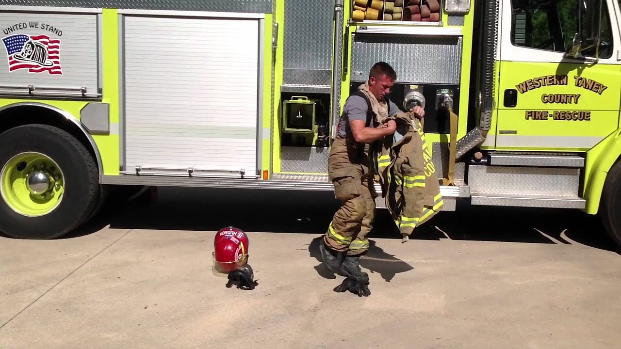 medium resolution of basic firefighter training don structural turnout gear