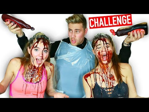 WHO KNOWS ME BETTER *DISGUSTING CHALLENGE* FEAT. NINA & RANDA