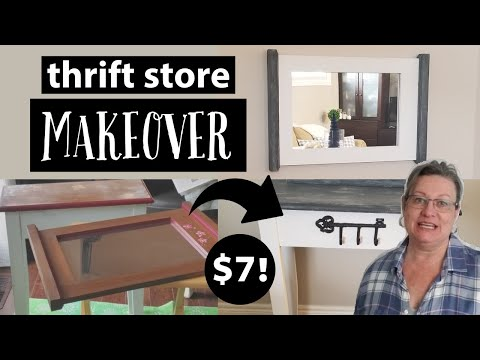 Farmhouse Thrift Store Makeover ~Trash to Treasure Furniture~Thrift Store Upcycle Home Decor