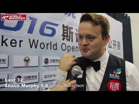 2016 Snooker World Open last 32 Shaun Murphy interview