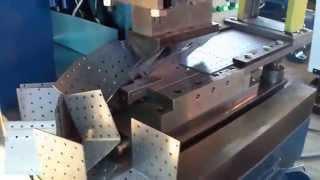 Линия штамповки с кассетным задатчиком(http://stanok74.ru/ Автоматическая штамповочная линия для гибки перфорированного крепежа с автоматической подачей..., 2014-04-07T05:59:30.000Z)