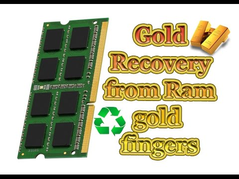 💰How to recover gold from ram gold fingers easy method💰
