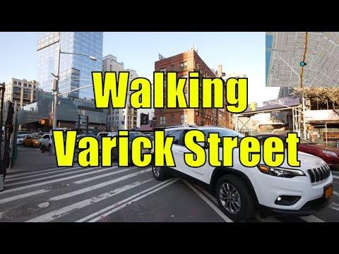 ⁴ᴷ Walking Tour of Hudson Square & TriBeCa, Manhattan, NYC - Varick Street (GPS Overlay)