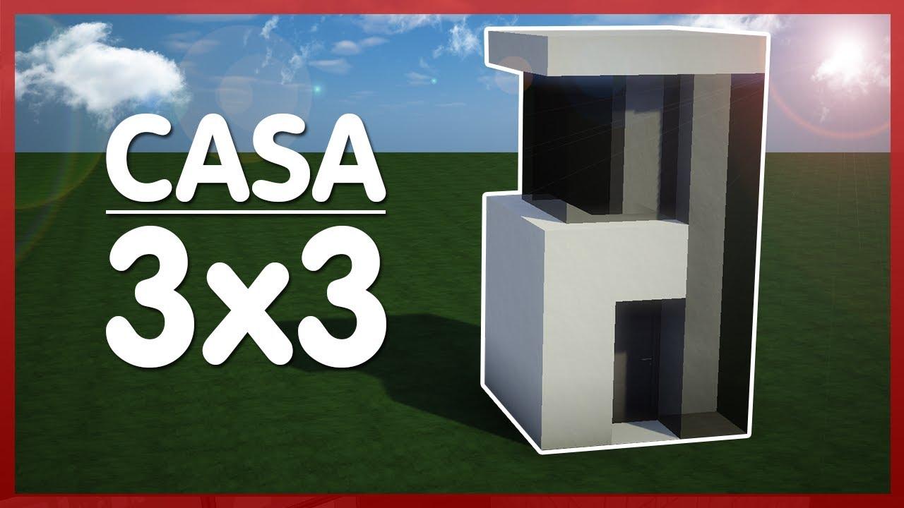 Minecraft como hacer una casa moderna 3x3 f cil y r pido for Casa moderna 9x9
