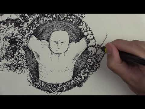 Does our Art Reflect Us? -- Accordion Sketchbook Drawing