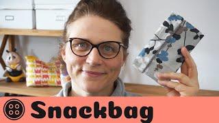 Snackbag nähen / Nähen mit Resten / kostenloses Schnittmuster