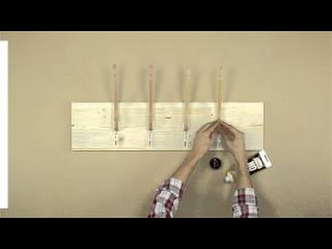 C mo hacer un perchero f cil y r pido youtube - Percheros de pared de diseno ...