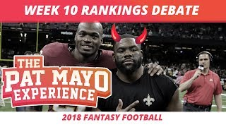2018 Fantasy Football — Week 10 Rankings, Starts, Sits and Sleepers