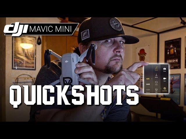 DJI Mavic Mini / QUICKSHOTS (Tutorial)