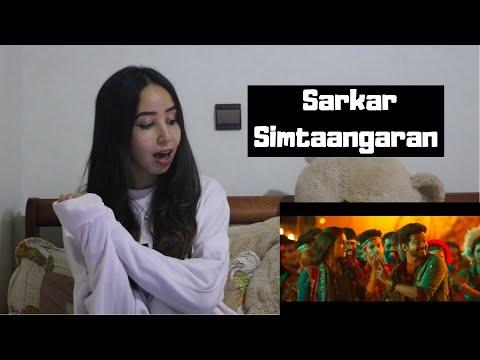 Sarkar - Simtaangaran| Thalapathy Vijay | A .R. Rahman | A.R Murugadoss   REACTION