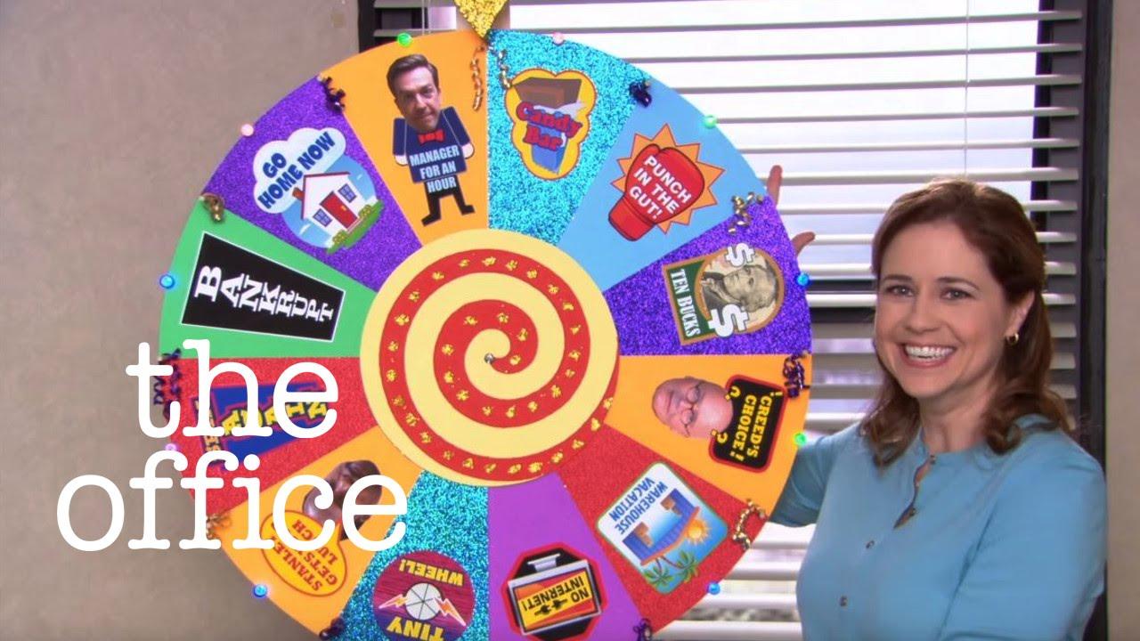 the office chore wheel