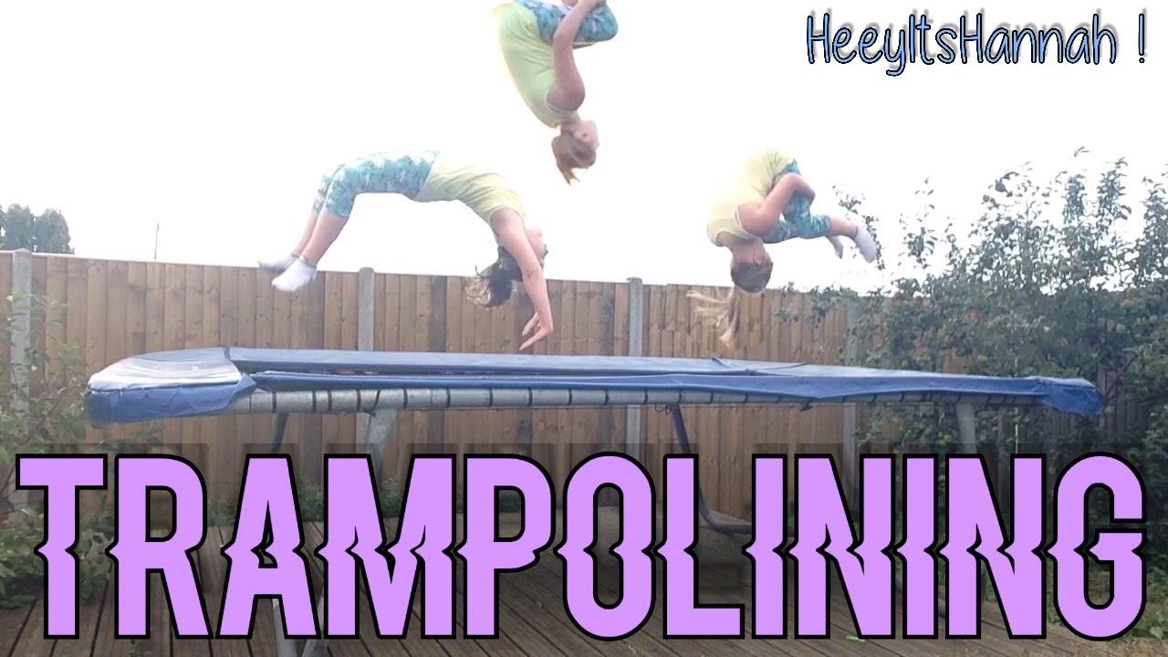 Trampolining video video star youtube