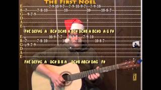 The First Noel (Christmas) Lead Guitar Cover with TAB