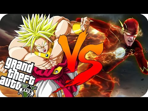 BROLY VS FLASH GTA V l BATALLAS EPICAS DE GTA 5 l YokaiGames l