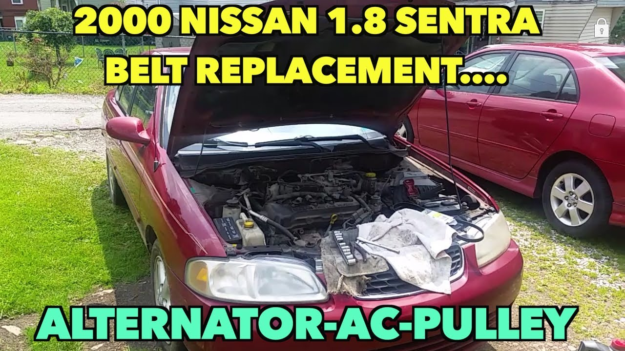 small resolution of nissan 1 8 sentra belt replacement alternator ac pulley 2000