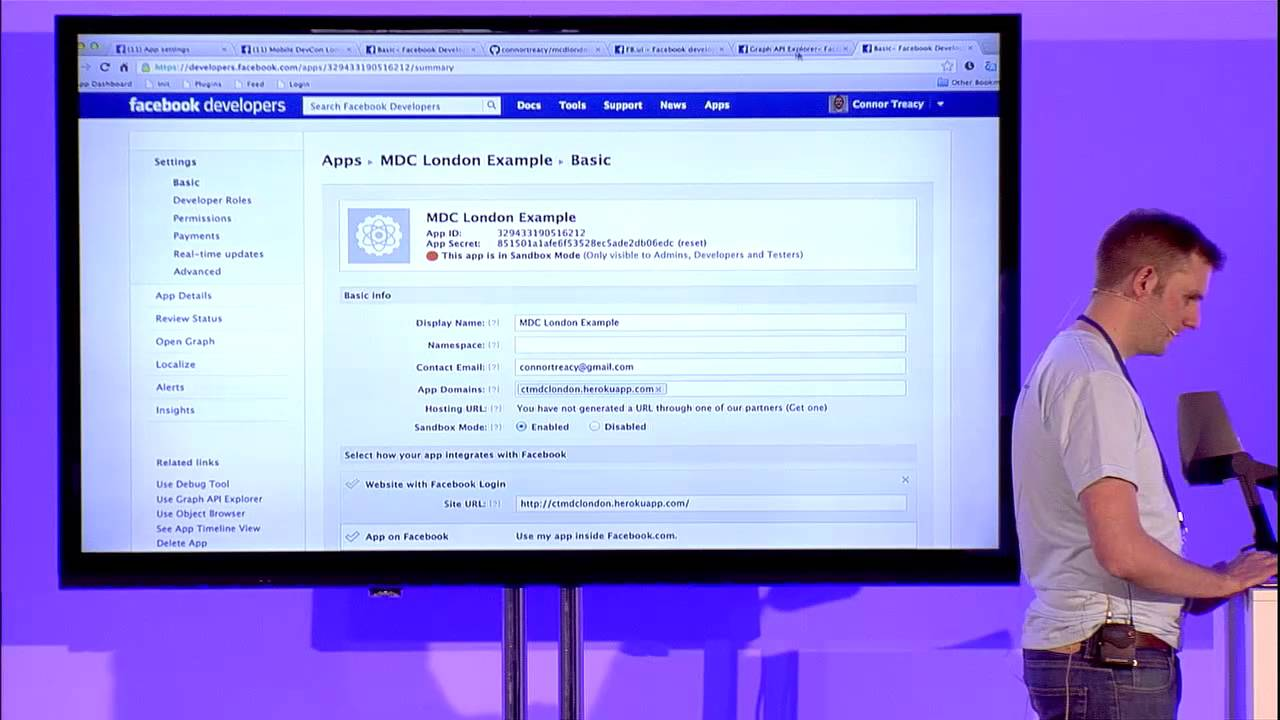 Facebook login in mobile phone m