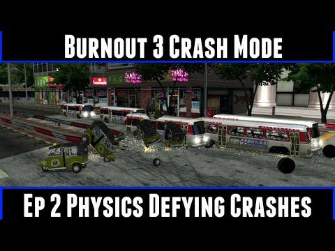 Burnout 3 Crash Mode Ep 2 Physics Defying Crashes