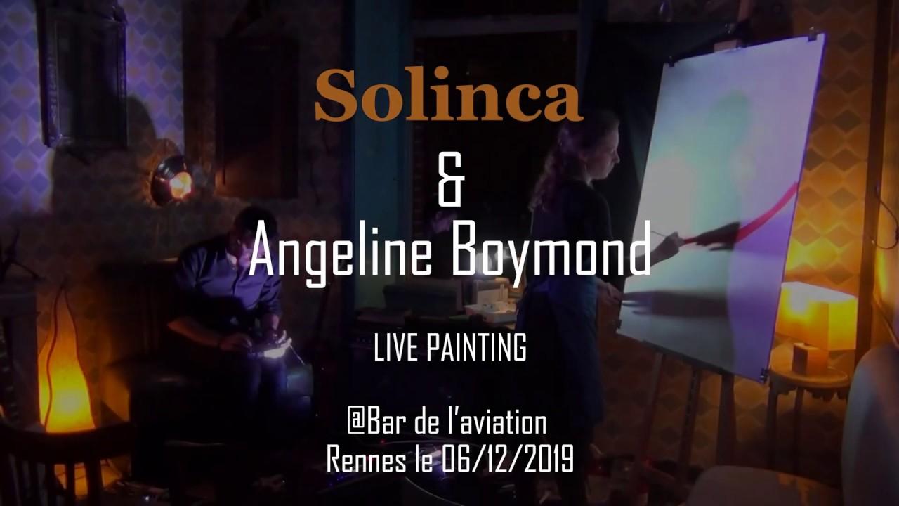 Solinca & Angeline Boymond concert live painting @Rennes