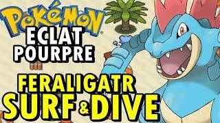 Pokémon Eclat Pourpre (Detonado - Parte 14) - Feraligatr, HM Surf e Hm Dive