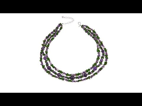 Snow tha product chain necklace jay king amethyst and green diopside 3strand 18 necklace aloadofball Gallery