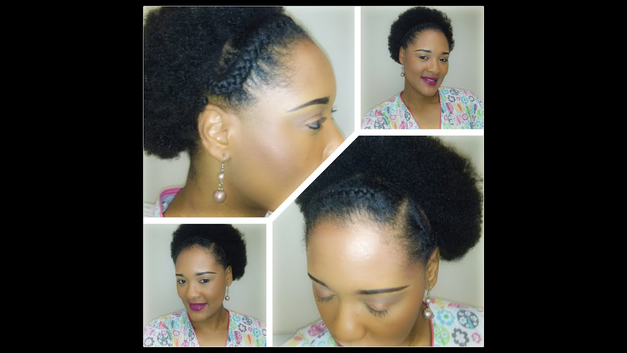 4C Natural Hair Quick and Easy Braids and Afro Hairstyle