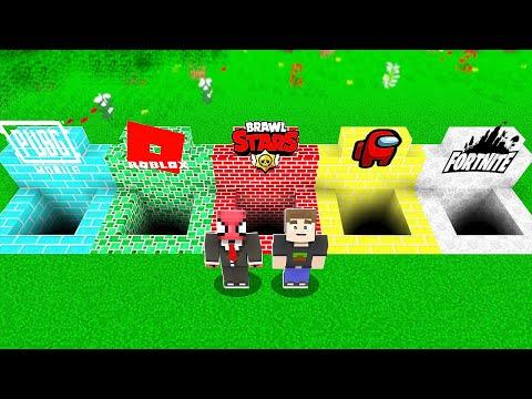 YANLIŞ OYUN ÇUKURUNU SEÇERSEN ÖLÜRSÜN 🎮 - Minecraft