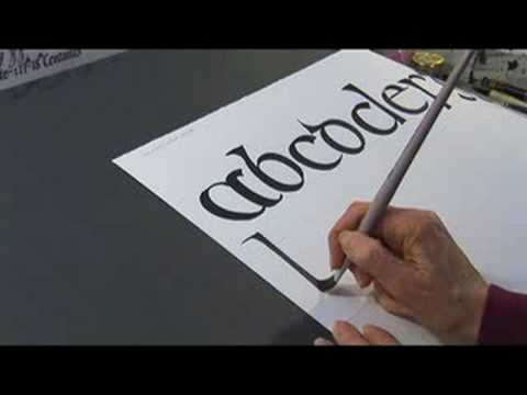 Calligraphy History Styles Calligraphy In Insular Half