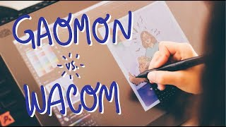 AFFORDABLE SCREEN DRAWING TABLET 2018 | Gaomon vs. Wacom Review