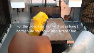 XYZ Printing Da vinci 3D Printers - Cleaning the Bed