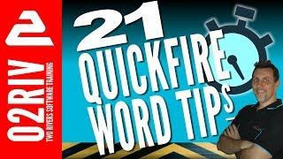 21 Quickfire Microsoft Word Tips and Tricks (in less than 4 minutes!)